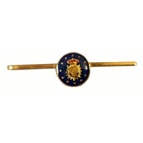 Pisacorbata Policía Escudo Color, fondo azul y estrellas
