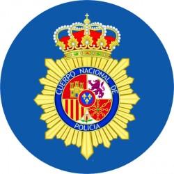 Pegatina Policía Nacional...