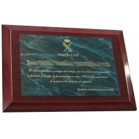 Placa Laton Imitacion Marmol Verde