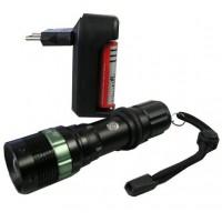 Linterna Army con zoom y cargador