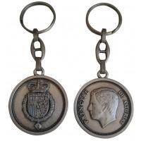 Llavero Felipe VI Plata Oxidado