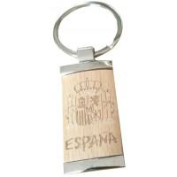 Llavero España Corcho