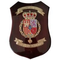 Metopa Madera Grande con forma  295x200 mm Felipe VI