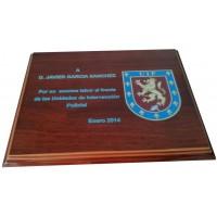 Placa Conmemorativa grabada a láser ( 210 x 165 mm.)