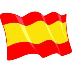 Pegatina Bandera España sin...