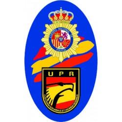 Pegatina CNP y UPR España...