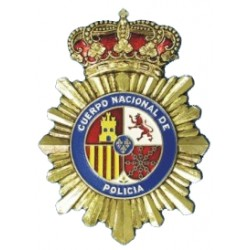 Chapa Metalica Policia Grande