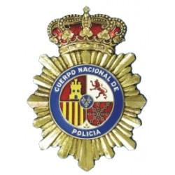 Chapa Metalica Policia Pequeña