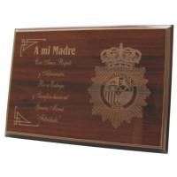 Placa Conmemorativa Grabada a laser Mini