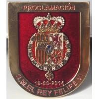 Insignia Proclamacion rey Felipe VI Pintado